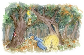 Brooks Needs a Nap - Forest Scene